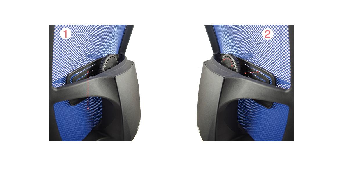 Serie light sillas operativas ergon mica delaoliva for Sillas ergonomicas con apoyo lumbar