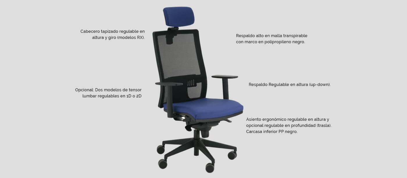 Serie Light - delaoliva - Colección de sillas operativas