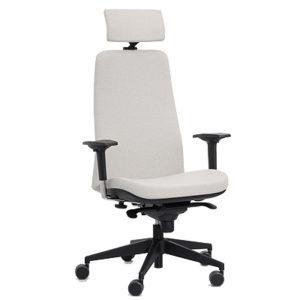 Colección de sillas operativas Wing 9.900-RXY Respaldo Alto con cabecero tapizado - delaoliva