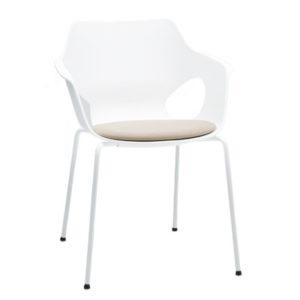 Olé 10-F con asiento tapizado Silla Multifuncion y contract diseñada por Ximo Roca - delaoliva