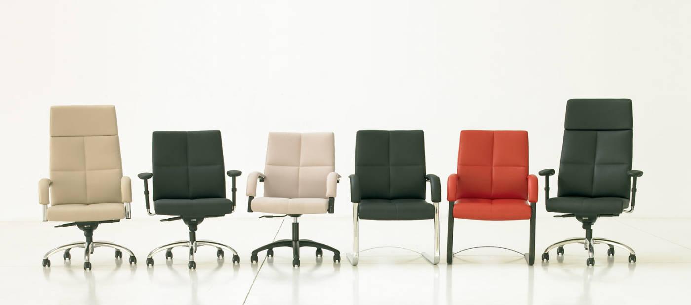 REPRESENTATIVO y CONFORTABLE , la colección de sillones de alta dirección BOSS esta marcada por sus generosas dimensiones y un esmerado y confortable tapizado.