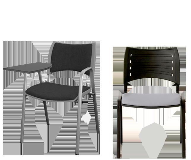 MODUL. Colección de sillas multifunción para instalación de colectividades y oficinas con asiento y respaldo en polipropileno.