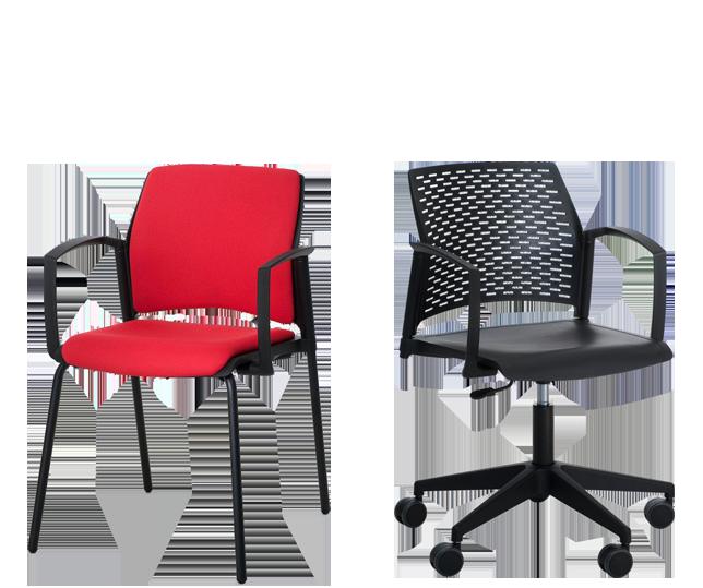 Serie Replay - Colectividades y Multiusos - delaoliva. Colección de sillas multifunción para uso como confidente o en instalaciones, diseño ligero y neutro.