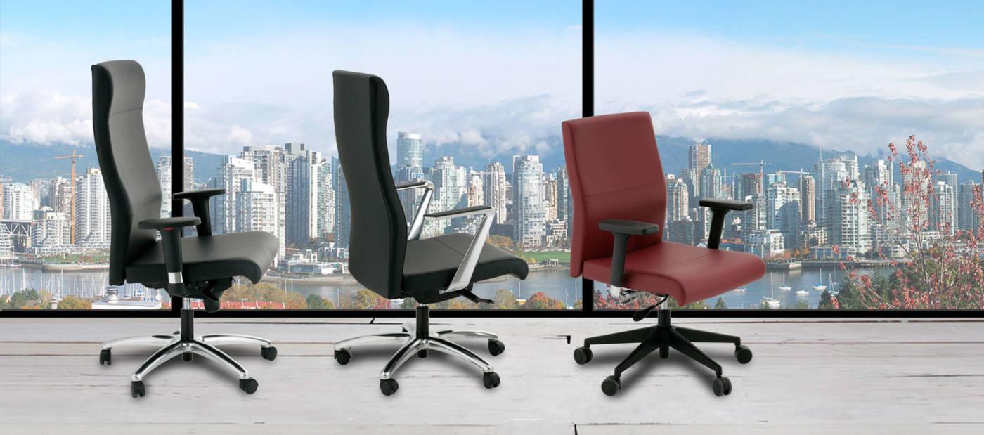 DAYTONA. Sillones de dirección de ALTA ERGONOMÍA para uso en despachos o home-office como sillón operativo que encaja en todo tipo de entornos de trabajo. Elección entre TRES modelo de BRAZOS.