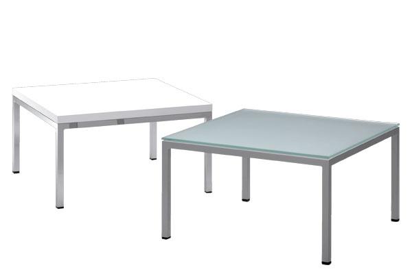 Mesa de rincón, tapa de madera en melamina blanco o wengue o tapa cristal mateado incoloro